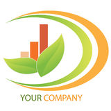 Company business logo. On white background Stock Photos