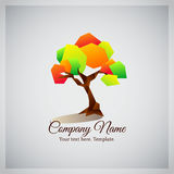 Company business logo with geometric colorful tree Royalty Free Stock Image