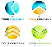 3D company business logo. Icon set Stock Photos