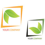 Company business logo - Investing. Company business logo on white background Stock Photos