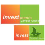 Company business logo - Investment. Company business logo on white background Royalty Free Stock Photos