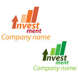 Company business logo - Investment. Company business logo on white background Stock Images