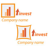 Company business logo - Investment. Company business logo on white background Royalty Free Stock Images