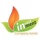 Company business logo - Investment. Company business logo on white background Stock Image