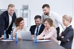 Company business meeting. Board members of big company having business meeting Stock Image