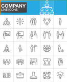 Company, Business people line icons set. Outline vector symbol collection, linear pictogram pack. Signs, logo illustration. Set includes icons as manager, team Royalty Free Stock Photo