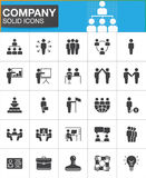 Company, Business people vector icons set Royalty Free Stock Images