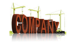 Company business under construction royalty free illustration