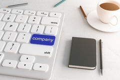 Company button Royalty Free Stock Photo
