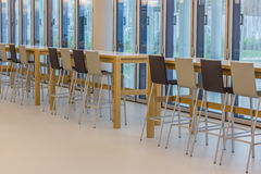Company cafeteria. Modern company cafeteria with modern forniture Stock Images