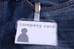Company card Royalty Free Stock Photo