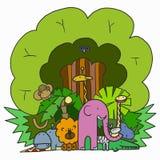 Company Cartoon Animals Royalty Free Stock Photography