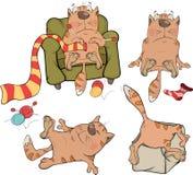 The company of cheerful cats cartoon Stock Photos