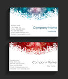 Company Christmas Business Card Vector Royalty Free Stock Photography