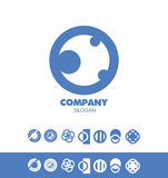 Company circle logo. Vector company logo icon element template blue set circle abstract Royalty Free Stock Image