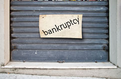 Company closed shop closed for bankruptcy Royalty Free Stock Image
