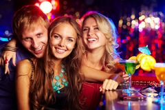 Company of clubbers Royalty Free Stock Photo