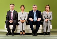 Company of co-workers Stock Photo