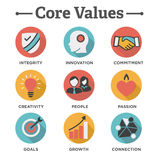 Company Core Values Solid Icons for Websites or Infographics Royalty Free Stock Image