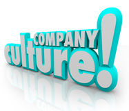 Company Culture 3d Words Team Organization Working Together Royalty Free Stock Photos
