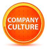 Company Culture Natural Orange Round Button stock illustration