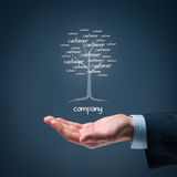 Company and customers royalty free stock photos