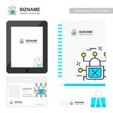 Company design stationary items with tablet and logo design vect Stock Photo