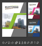 Company flyer vector illustration Royalty Free Stock Photography
