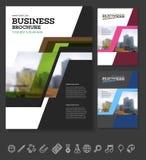 Company flyer vector illustration Royalty Free Stock Photos