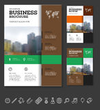 Company flyer vector illustration Royalty Free Stock Photo
