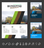 Company flyer vector illustration Stock Photo