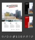 Company flyer vector illustration Stock Photography
