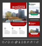 Company flyer vector illustration Royalty Free Stock Image