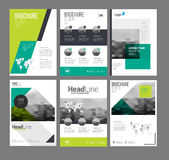 Company flyer vector illustration set Stock Photos