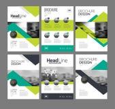 Company flyer vector illustration set Stock Photography