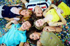 Company of friends Stock Photo