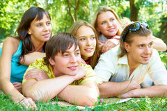 Company of friends Stock Image