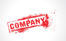 Company grunge text Royalty Free Stock Photos