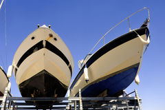 Company of guarding and storage of boats Stock Photo