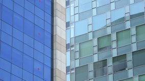 Company headquarters exterior, panning stock footage