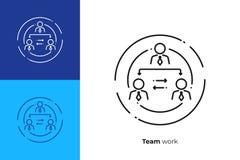 Company hierarchy line art vector icon vector illustration