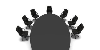 Company higher consil. Black table in conference room Royalty Free Stock Photos