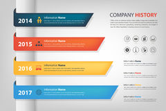 Company history in time line (year) horizontal graph bar (Vector Royalty Free Stock Photos