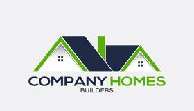 Company Homes for Sale Logo Royalty Free Stock Photos