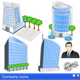 Company icons Stock Images