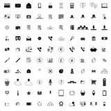 100 company icons. 100 company simple icons isolated on white background Vector Illustration
