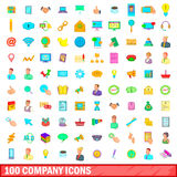100 company icons set, cartoon style. 100 company icons set in cartoon style for any design vector illustration royalty free illustration