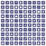 100 company icons set grunge sapphire Royalty Free Stock Photo