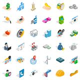 Company icons set, isometric style Stock Photography