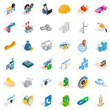 Company icons set, isometric style. Company icons set. Isometric style of 36 company vector icons for web isolated on white background Stock Photography